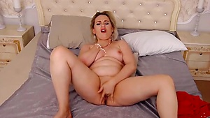 Beauty Almost Choking Herself While Masturbating
